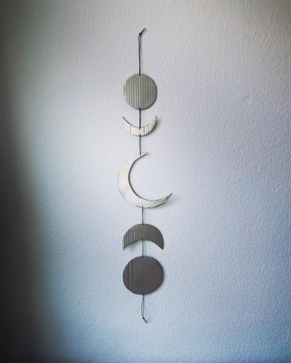 Silver Moonphases / Mondphasen silber / DIY